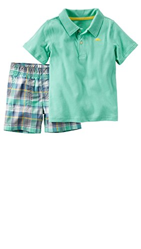 Carters 2 Piece Outfit (Carter's Toddler Boy's 2 Piece Polo Shirt and Shorts Set (4T,)