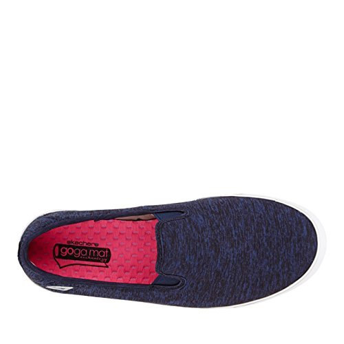 Les Skechers Vont Vulc Laguna Femmes Slip Sur Sneakers Marine / Blanc