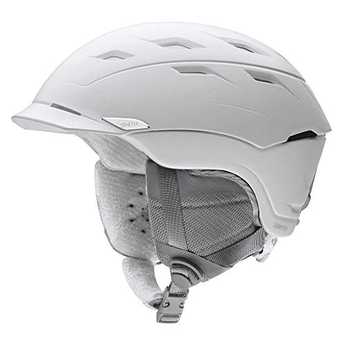 Smith Optics Womens Valence MIPS Ski Snowmobile Helmet - Satin White/Medium ()