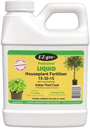 Flowering Plant Food (Indoor Plant Food by E Z-GRO 15-30-15 | Liquid Plant Food for Your Indoor Plants | Our Liquid Fertilizer Increases Bud Set in Flowering | Our Indoor Plant Fertilizer has High Phosphorus Level |16 oz)