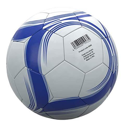 Trade Con Balón de fútbol (talla 5), color blanco y azul