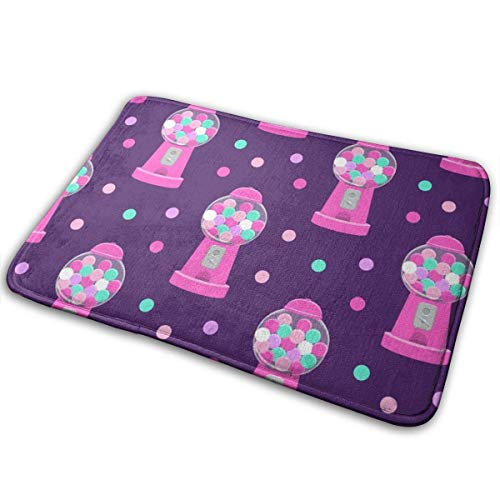 Clxisn Gumball Machine Pink On Purple Original Durable Rubber Door Mat Heavy Duty Doormat Indoor Outdoor Waterproof Easy Clean Low-Profile Mats 23.6 X 15.7 Inch(60x40cm) - Frog Gumball Machine