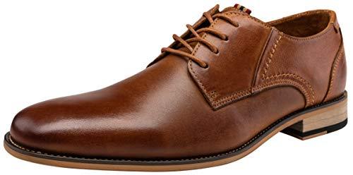 JOUSEN Men's Oxford Retro Leather Formal Dress Shoes (10,Yellow Brown) ()