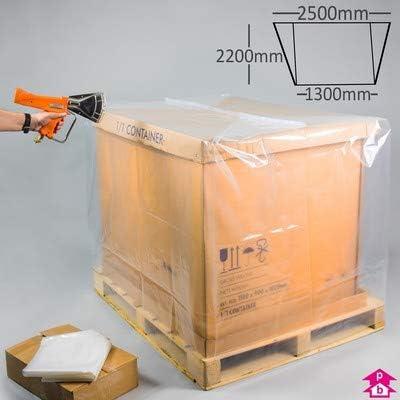 50 x cubierta de palé termorretráctil (1300/2500 mm x 2200 mm de alto) [COV4848L]: Amazon.es: Oficina y papelería