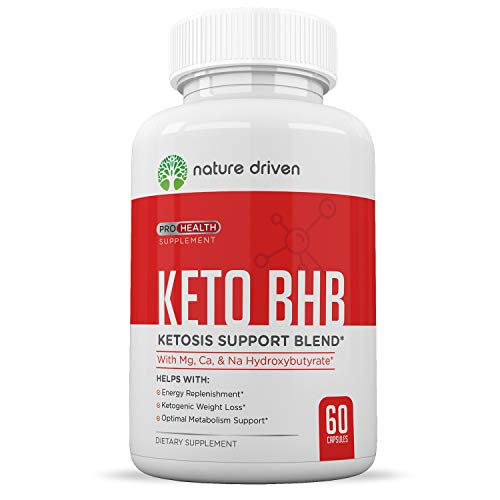 Keto Diet Pills That Work – Weight Loss Supplements to Burn Fat Fast – Boost Energy and Metabolism – Best Ketosis Supplement for Women and Men – Nature Driven – 60 Capsules For Sale