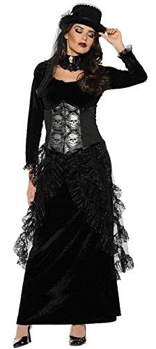 Countess Dracula Costume (Women's Gothic Victorian Costume - Dark Mistress Black Medium)