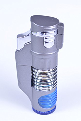Triple Flame Torch Lighter - Silver