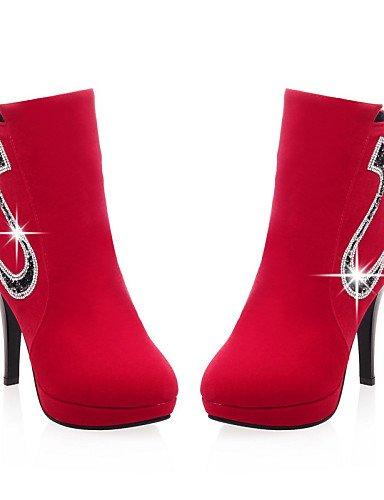 Redonda Eu39 Mujer Uk6 Xzz Cerrada us8 us8 Cn39 Black Trabajo Red Tacón Y Fiesta Vestido Zapatos Stiletto Oficina Punta De ante Casual Noche Botas nHERqFwEYx