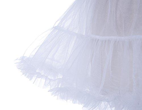 Dresstells® La Enagua Lujosa de Falda de Capa de Tul Ivory