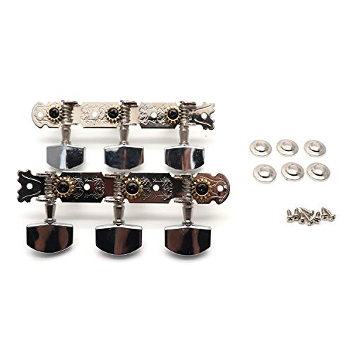 Timiy Guitar String Tuning Machine Head/Guitar Tuning Keys 3 Left / 3 Right Alignment- Set of 2 ()