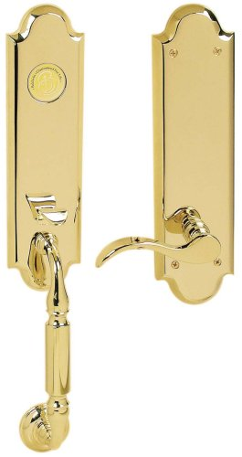 Baldwin 85350.003.RFD Manchester Emergency Exit Dummy Handleset with Wave Lever, Lifetime Polished ()