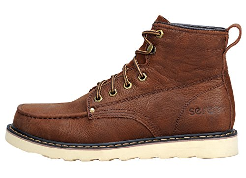 Serene Mens High Top Lace Up Fashion Sneaker Shoes(10.5 D(M)US, Red Brown)