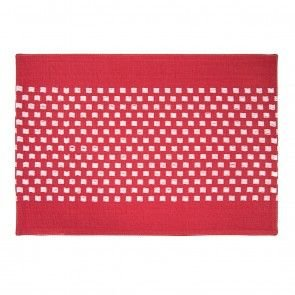 (Red Basketweave Stripe Placemats 4/Pack 100% cotton)