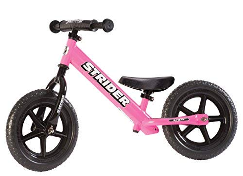 - Strider - 12 Sport Balance Bike, Ages 18 Months to 5 Years, Pink