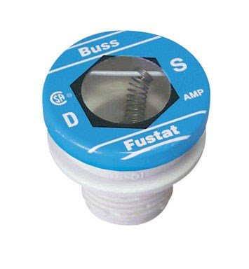 Bussmann BP/S-8 8 Amp Type S Time-Delay Dual-Element Plug Fuse Rejection Base, 125V UL Listed Carded ()