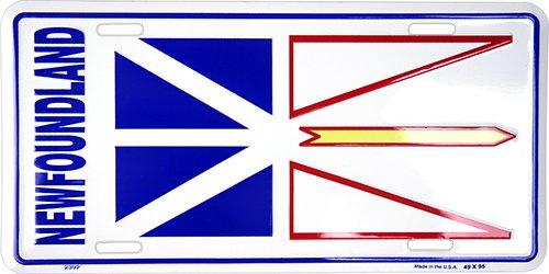 Province of Newfoundland and Labrador Flag License Plate Hangtime