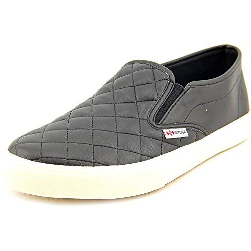 Superga Women's 2311 Quiltedpuw Fashion Sneaker, Black, 39.5 EU/8.5 M US
