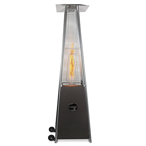 Barton Premium Patio Heater Quartz Glass Tube Dancing Flame Outdoor Heater Propane LP Gas Porch Deck Heat, Hammered Bronze