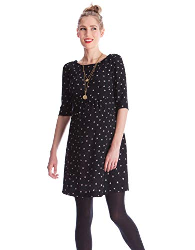 Seraphine Women's Black Dot Woven Maternity Dress Size 6