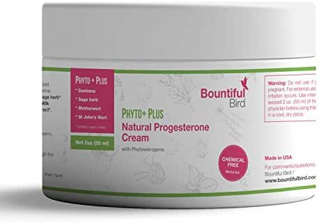 Phyto Plus Natural Progesterone Cream - with Organic Phytoestrogens, 100% Money Back Guarantee, Bioidentical Progesterone, Hormone Balance Cream, Manage PMS & Menopause Symptoms Naturally (2 oz)