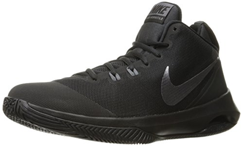 NIKE Men's Air Versitile Nubuck Basketball Shoe, Black/Metallic Dark Grey/Dark Grey, 8 D(M) US