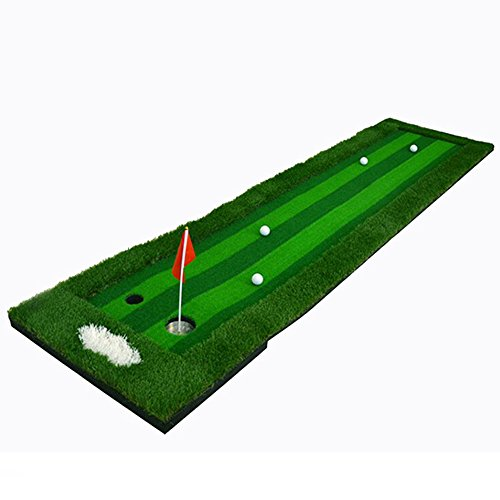 FUNGREEN 75X300CM Golf Putting Green System Professional Practice Indoor/outdoor Backyard Golf Training Mat Aid Equipment with 3 Colors Grass by FUNGREEN (Image #2)