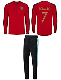 Cristiano Ronaldo Portugal #7 Kids Soccer Tracksuit Track Jacket with Pants Youth Sizes