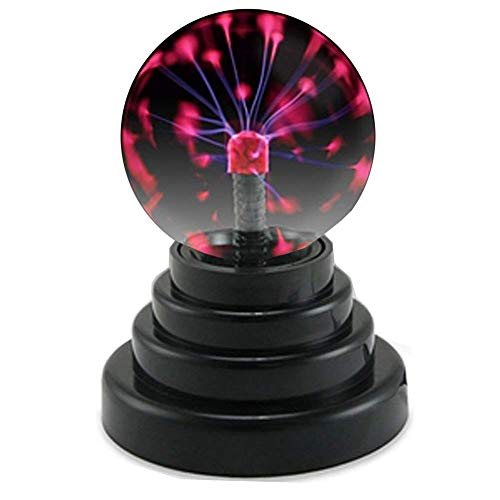 Plasma Ball Light, Mini Plasma Ball Lamp, Magical Induction Ball Lamp, Sphere Lightning Lamp Touch Sensor Light Funny Gift for Kids Party Home Bar Teahouse Restaurant Coffee Shop Dance Hall ()