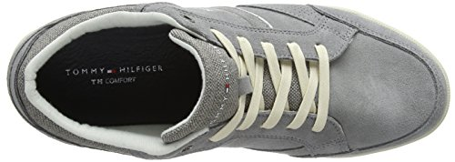 Homme 004 Tommy Sneakers Hilfiger Light Basses Sneaker Gris Grey Suede Detail Corporate n0AqXPrA
