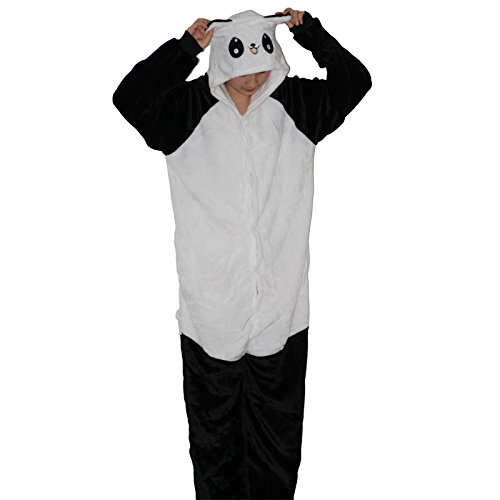 Flannel christmas pajamas Adult Unisex Pajamas Cartoon giraffe bear panda eeyore Animal Halloween Cosplay Costume Hoodie Onesie Sleepwear (S, KUNGFU panda)