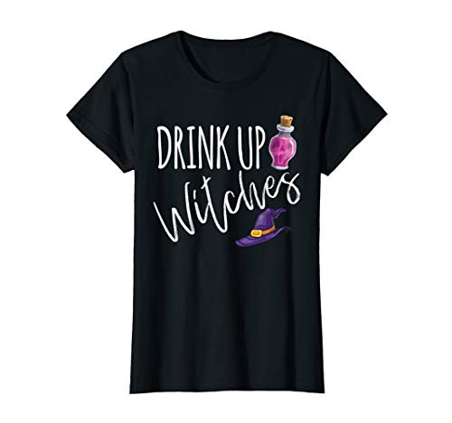 Adult Halloween Humor (Womens Drink Up Witches Funny Witch Halloween Costume Adult Humor)