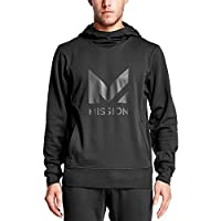 Mission Men's VaporActive Gravity Pullover Hoodie, Moonless Night, Medium
