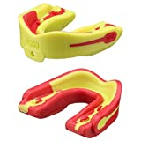 MOGO. Flavored 2 Pack Mouth Guards - Adult Sports Mouthguard for Ages 11 and Up - Mouthpiece for MMA, Football and Lacrosse - Tether Strap, Fitting Instructions and Carry Case (Strawberry Lemonade)