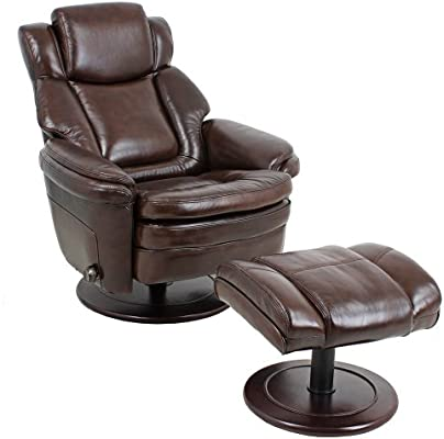 Amazon.com Barcalounger Eclipse II Pedestal Chair and Ottoman - Promenade Chocolate Leather / Vinyl Kitchen u0026 Dining  sc 1 st  Amazon.com & Amazon.com: Barcalounger Eclipse II Pedestal Chair and Ottoman ...