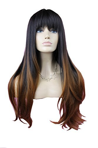 [Sexy Natural Long Straight Hair Wig Synthetic Full Wig Like Real Human Hair for Women] (Long Sexy Wigs)