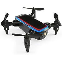 Eletty Remote H53W Mini Foldable Pocket Drone Mini FPV Quadcopter Selfie 480P WiFi Camera Hover