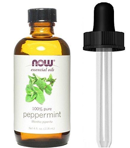Energizing Mint Essential Oil - NOW Foods Essential Oils Peppermint -- 4 fl oz (4 oz + 1 Glass Dropper)