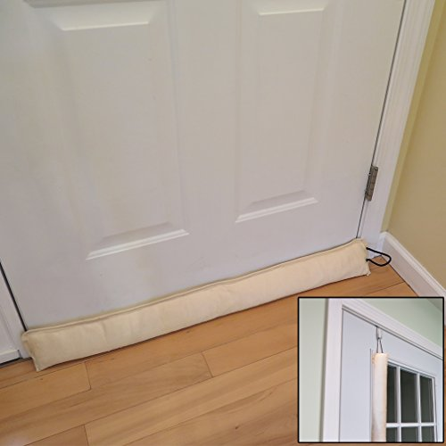 Evelots Updated Hanging Door Draft Stopper With Door Hook, Save Energy & Money