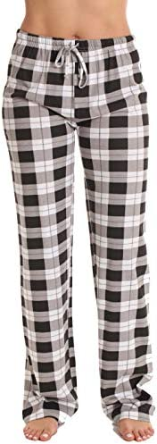 Just Love 100% Cotton Jersey Women Plaid Pajama Pants Sleepwear