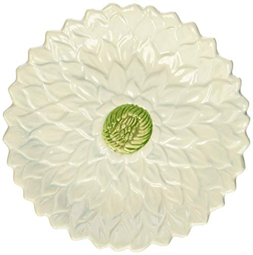 Mikasa Silk Floral Teal Appetizer Plate, 6.5-Inch