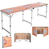 UBRTools Foldable Aluminum 8' Folding Beer Pong Table Portable Outdoor Indoor Game Party