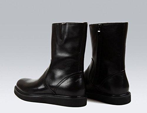 Zapatos Clásicos de Piel para Hombre Botas para hombre Martin Army Leather Tooling Botas locomotoras ( Color : Negro , Tamaño : EU38/UK5.5 ) Negro