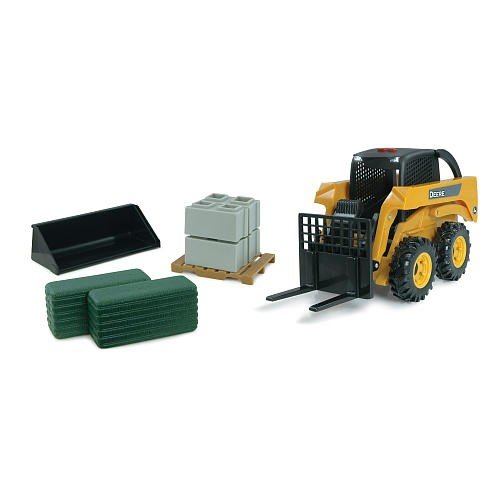 Britains Big Farm 46299M6 - John Deere 780 Düngerstreuer 42992 Big Farm Skidsteer Set