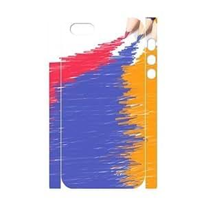 3D Bumper Plastic Customized Case Of Art Pencil for iPhone 5,5S wangjiang maoyi