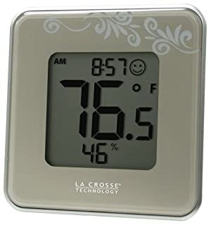 La Crosse Technology 302-604S Silver Indoor Digital Thermometer and Hygrometer Station with MIN/MAX records and Comfort level icon (B004QM97CU) | Amazon price tracker / tracking, Amazon price history charts, Amazon price watches, Amazon price drop alerts