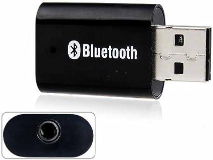 Bt 810 Bluetooth 2 0 Audio Musik Stereo Receiver Mit 3 5 Mm Audio Jack Black Sport Freizeit