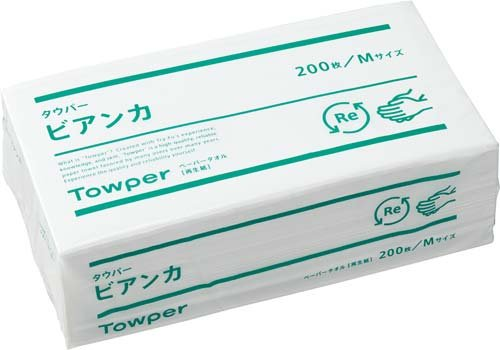 ペーパータオル ビアンカM(200枚×25束入)×10ケース B01LZMRSJT