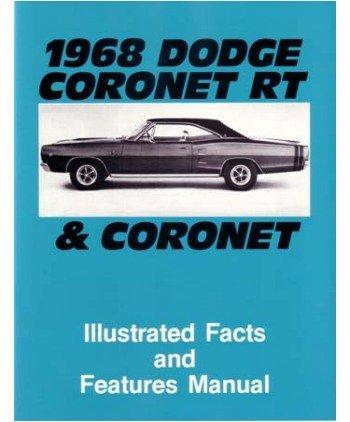 1968 DODGE CORONET Facts Features Sales Brochure Book