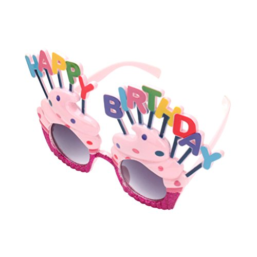 OULII Happy Birthday Sunglasses Sweet Cream Cake Glasses Costume Glasses Props Funny Novelty for Birthday Party - Birthday Sunglasses
