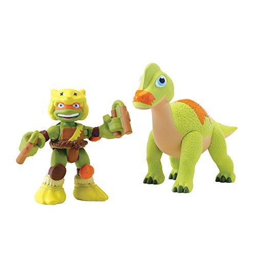 - Teenage Mutant Ninja Turtles Pre-Cool Half Shell Heroes Dino Michelangelo and Brachiosaurus Figures